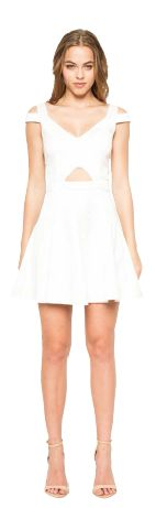 Stylestalker- Ask Me Out Dress. This short dress feature a V-neck with cut out details   * Model is Wearing XS  * Hand Wash