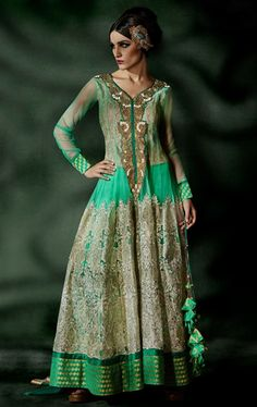 Picture of Marvelous Mint Green Ready made Salwar Kameez
