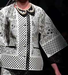 patternprints journal: PRINTS, PATTERNS AND SURFACE EFFECTS: BEAUTIFUL DETAILS FROM PARIS FASHION WEEK (WOMAN COLLECTIONS SPRING/SUMMER 2015) / Anrealage