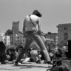 (^o^) Johnny Ramone at the #Ramones free gig at the San Francisco Civic Center in 1979. Photograohed by Michael Jang