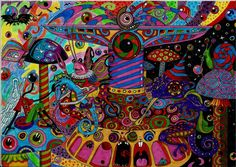 Explore the Psychedelic Art collection - the favourite images chosen by on DeviantArt. Psychedelic Art, Psychedelic Experience, Trippy Pictures, Trippy Drawings, Acid Art, Psy Art, Mushroom Art, Visionary Art, Illustrations