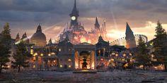 """『NieR:Automata』のセーブは自動販売機で行う!? 新フィールド""""遊園地廃虚""""などにも迫る"""