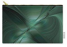Carry-all Pouch featuring the digital art Slicing Through Space by Elena Ivanova IvEA #ElenaIvanovaIvEAFineArtDesign #Decor #Gift #CarryAllPouches