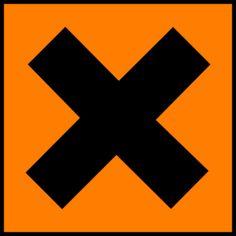 Science Laboratory Safety Signs: OrangeHarmful or Irritant Sign