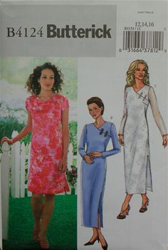 2000s Dress Asymmetrical Frog Closure Butterick by patterntreasury, $13.95