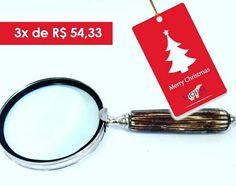 Lupa decorativa em osso!  Para comprar, acesse: www.diorsidecor.com.br WhatsApp (12) 9 9715 2022