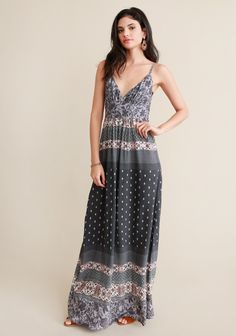 Soho Printed Maxi Dress - Clothing | ThreadSence