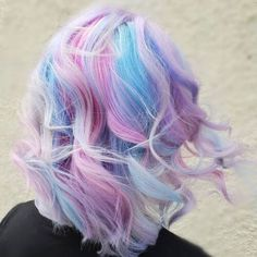 Best Hairstyles & Haircuts for Women in 2017 / 2018 Image Description Light Blue And Purple Color On Blonde Hair galaxies with blue and purple hair color ideas. Pick a light pastel option or bright ombre, mermaid hair, or highlights. Blue Purple Hair, Light Blue Hair, Hair Color Blue, Hair Dye Colors, Blonde Color, Cool Hair Color, Pastel Blonde, Pink Blue, Blonde Hair