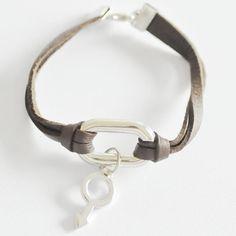 Faux Leather Unisex Bracelet