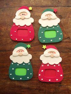 toys - Reciclagem divertida e artesanato: Papai Noel Porta Retrato