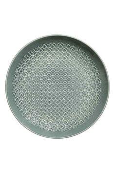 Тарелка с рельефным рисунком - Темно-зеленый - HOME | H&M RU 1