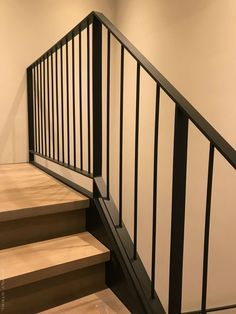 The Next Level: 14 Stair Railings to Elevate Your Home Design Stunning Ideas for a staircase railing with glass exclusive on homesaholic home decor Best Picture For cozy balcony For Steel Stair Railing, Modern Stair Railing, Balcony Railing Design, Steel Stairs, Staircase Railings, Modern Stairs, Staircase Design, Stairways, Banisters