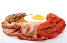 Eggs & bacon are part of a low fibre diet