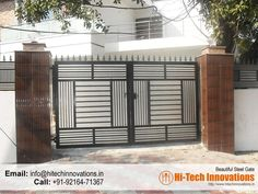 Stainless Steel Gates Manufacturer in Chandigarh, Mohali, Ludhiana, Jalandhar. Iron Main Gate Design, Gate Wall Design, Home Gate Design, Grill Gate Design, House Main Gates Design, Steel Gate Design, Wooden Main Door Design, Compound Gate Design, House Front Gate