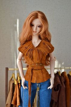 jacket and vest for sd dolls, leather
