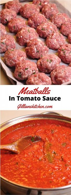 Meatballs in tomato sauce always look super delicious and I crave them every now and then, however, I'm usually, ultimately, dissatisfied with their taste. Tomato Sauce For Meatballs, Meatball Sauce, How To Cook Meatballs, Cooking Meatballs In Sauce, Meatballs Stovetop, Casserole Recipes, Meat Recipes, Pasta Recipes, Cooking Recipes