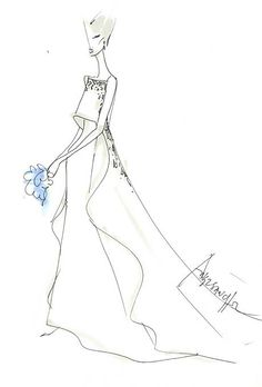 Savannah Guthrie's Wedding Dress: Designer Sketches | Wedding Dresses | Brides.com | Wedding Dresses Style | Brides.com