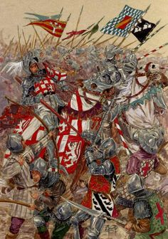 1429, battle of Patay : revenge of Azincourt, French heavy knights destroyed an English army.