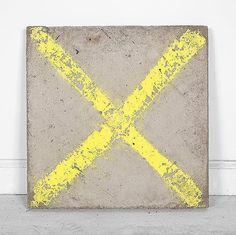 "Davina Semo [USA] (b ~ ""X Marks The Rot"", Spray paint transfer on reinforced concrete. Modern Art, Contemporary Art, Abstract Geometric Art, Art Archive, Conceptual Art, T 4, Sculpture Art, Culture, Fine Art"