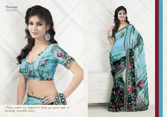 Suitsvilla Blue Fabulous Georgette Printed Saree Online,Fabulous Georgette Printed Saree Online, It provides you a rare and precious collection of Printed Saree. All the Printed Saree displayed on this website are carefully collected. The sarees are the prized possession of any woman fancying wearing a saree. The sarees are made in beautifully coloured silk clothes with complex, dense, intricate and beautiful figural or geometrical decorations.