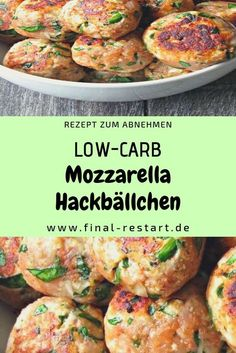 Our delicious mozzarella meatballs impress with their great taste . - Our delicious mozzarella meatballs impress with their great taste. They are low carb and contain on - High Protein Recipes, Healthy Dinner Recipes, Mozzarella Stuffed Meatballs, Low Carb Lunch, Albondigas, Fodmap Recipes, Grilling Recipes, Food, Lunches