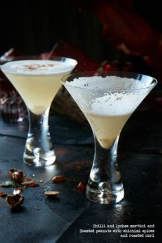 Chilli and lychee martini