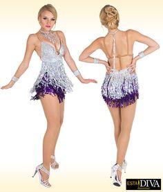 Vestido latino de danza Sucinta Fiera vestido de flecos de