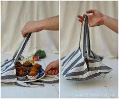 DIY: Cómo hacer una bolsa para repostería con un paño de cocina | Aprender manualidades es http://facilisimo.com