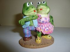 Painted Ceramic Dancing Frogs by TrueColorsBoutique on Etsy, $4.00