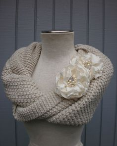 bridal wedding shrug- A great way to cover up for a (chilly) winter wedding.