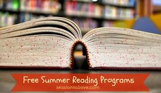 Want to keep the kids motivated to read this summer? Check out this list of Free Summer Reading Programs for 2015 on MissiontoSave.com
