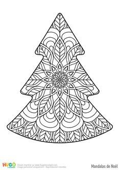 Mandala joli sapin de Noël Christmas Yule Log, Christmas Colors, Christmas Wreaths, White Nail Designs, Cool Nail Designs, Yule Log Cake, Blackwork Embroidery, Xmas Nails, Theme Noel