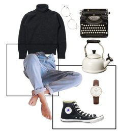 """Untitle"" by anhajin on Polyvore featuring Le Creuset, RetroSuperFuture, Converse and Daniel Wellington"