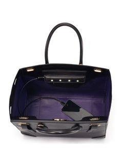 The Ricky Bag With Interior LED light/mobile device charger. The ultimate fusion of luxury & technology-