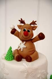 super cute rudolph the red nose reindeer cake