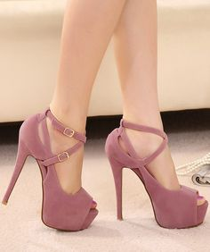 buckle high-heeled sandals