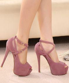 buckle high-heeled sandals