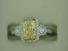 Yellow Diamond Ring    http://www.facebook.com/diamondjewelersonthecoast?ref=tn_tnmn