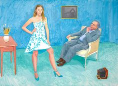 The Photographer & His Daughter (Jim & Chloe McHugh) by David Hockney - 2005 David Hockney Art, David Hockney Paintings, Robert Rauschenberg, Edward Hopper, Pop Art Movement, Portraits, Portrait Art, Create Photo, Frida Kahlo