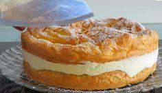 Tort polonez Karpatka No Cook Desserts, Dessert Recipes, Apple Pie, Camembert Cheese, Cooking, Cake, Food, Poland, Kitchen