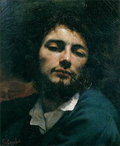 COURBET, Gustave Self-Portrait (Man with Pipe) 1848-49 Oil on canvas, 45 x 37 cm Musée Fabre, Montpellier