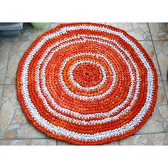 Bohemian Gypsy, Fabrics Round Rug, Crochet Round Mat Bathroom Eco... (€40) ❤ liked on Polyvore featuring home, bed & bath, bath and bath rugs