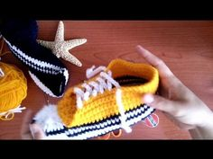 Converse a crochet - YouTube