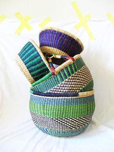 Ghana Bolga Farmers Market Open Basket