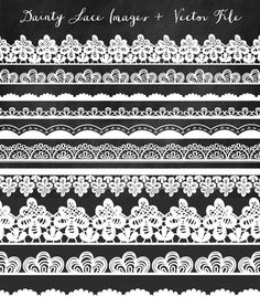 Lace Clip Art Border Clip Art Lace Trim and by FieldandFountain
