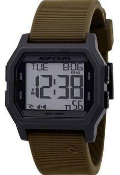 Rip Curl Atom A2701-AMB Black/Ambush Green Silicone Digital Quartz Men's Watch $90.00 Jet.com