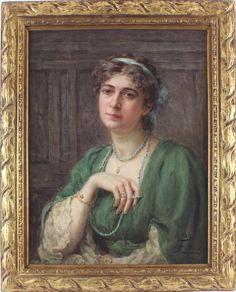 Norah Fulcher Antique Watercolour Painting Portrait Lady Signed Watercolour Painting, Oil, Portrait, Antiques, Lady, Antiquities, Antique, Headshot Photography, Portrait Paintings