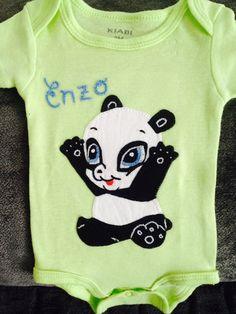 Body oso panda bebe