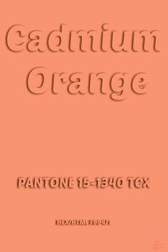 Pantone Cadmium Orange