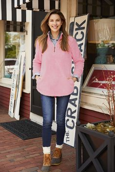 The Newport Fleece in Powder Pink is as welcoming as it feels. Plush and luxurious on the outside thanks to a fine, lofty polyester Uni-Soft fleece. College Prepster, Charles River, Monogram Fonts, Powder Pink, Newport, Fall Outfits, Winter Fashion, Pullover, Zip